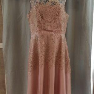 Tahari Dresses - Tahari pink chiffon and lace dress